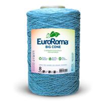 Barbante EuroRoma Big  Cone número 8 cor 900 - Azul Bebê  - 1,8Kg - Eurofios