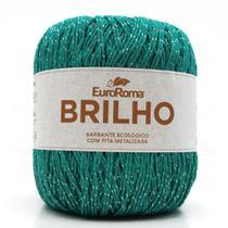 Barbante EuroRoma Brilho Prata 400g - Eurofios
