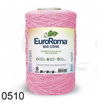 Barbante Euroroma Colorido 1,8Kg N8 Eurofios Rosa Bebê -