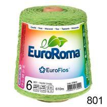 Barbante EuroRoma Colorido Cor 801 - Verde Limão N6 - 600g -