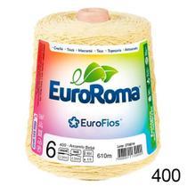 Barbante EuroRoma Colorido  N6 - 600g - Cor 400 - Amarelo Bebê -