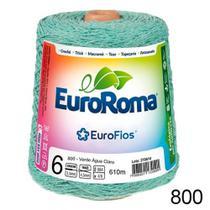 Barbante EuroRoma Colorido  N6 - 600g - Cor 800 - Verde água Claro -