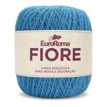 Barbante EuroRoma Fiore 8/4 150g - Azul Piscina - Eurofios