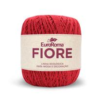 Barbante EuroRoma Fiore 8/4 150g - Vermelho - Eurofios