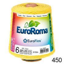 Barbante EuroRoma N6 600g/610m - Cor: 450 - Amarelo Ouro -