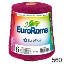 Barbante EuroRoma N6 600g/610m - Cor: 560 - Magenta -
