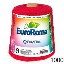 Barbante EuroRoma   número 08 - Cor 1000 - Vermelho - 600g -