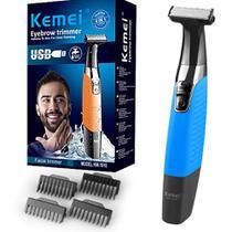 Barbeador Aparador De Pelos Elétrico Recarregável Prova D'água Bivolt Km-1910 Kemei -