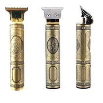 Barbeador De Cabelo Elétrico Vintage Dourado - ConnectCell