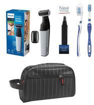 Barbeador E Aparador De Pelos Profissional Bodygroom Bg3005/15  Philips a Prova D'água + Necessaire -