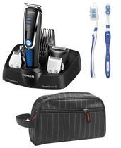 Barbeador elétrico maquina de corta cabelo 10 em 1 Mondial com necessaire e escova -