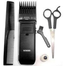 Barbeador elétrico pente regulável e tesoura RM-389B - Rifeng