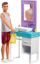 Barbie - Boneco Ken Móveis de Banheiro Original Mattel -