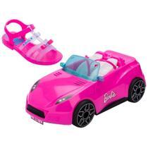 Barbie Carro Conversível Rosa com Sandália 25 - Grendene -