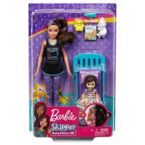 Barbie Conjunto Skipper Babysitter Bebe Hora de Dormir Fhy97 - Mattel