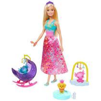 Barbie Dreamtopia Dia de Pets Babá de Dragões Bebês GJK50 Mattel -