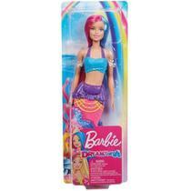 Barbie Dreamtopia - Fantasia Sereia Cabelo Rosa e Azul - Mattel