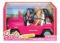 Barbie E Boneco Ken Com Automóvel Veículo De Praia Cjd12 Mat - Mattel