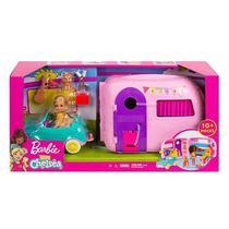 Barbie e Veículo Trailer da Chelsea Mattel -