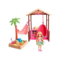 Barbie Explorar e Descobrir Barraca de Praia Chelsea - Mattel -