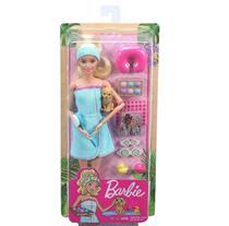 Barbie Fashionista Dia de Spa com Filhotinho Loira - Mattel -