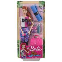 Barbie Fashionista Dia de Spa Fitness Ruiva - Mattel -