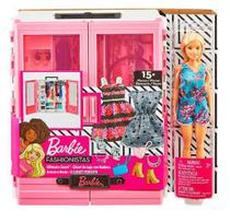 Barbie Fashionistas Closet de Luxo e Acessórios - Playset e Boneca - Mattel