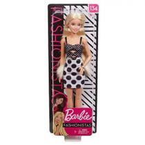 Barbie Fashionistas Loira com Saia de Bolinhas 134 - Mattel -