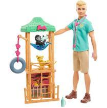 Barbie Ken Veterinário De Animais Selvagens GJM32/Gjm33 - Mattel -