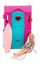 Barbie Loira Studio De Surf Vestido Rosa Fun 8582-5 - Brinquedos