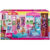 Barbie Playset Boneca e Casa Glamour Close e Go Mattel Fxg55 -