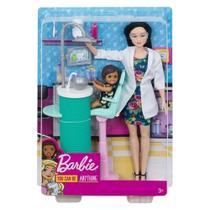 Barbie Profissões Conjunto Dentista Morena - Mattel -