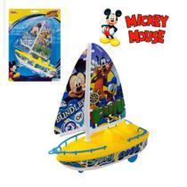 Barco a Vela Lancha Brinquedo a Corda Anda na Água do Mickey - Etitoys