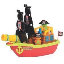 Barco Aventura Pirata Brinquedo Flutua na Água Mercotoys -