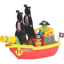 Barco Aventura Pirata Brinquedo Infantil Didático Educativo Canhão Lança Bolinha Presente Criança Menino Menina Aniversário - Mercotoys