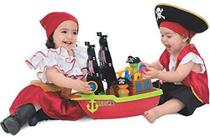 Barco Aventura Pirata com Caixa - Mercotoys -