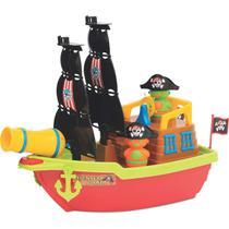 Barco Aventura Pirata Infantil Brinquedo Educativo Didático Canhão Lança Bolinhas Brincar NA água Presente Menino Menina Criança Aniversário - Mercotoys