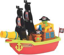 Barco Aventura Pirata lança bolinhas - Mercotoys -