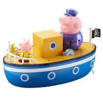 Barco Do Vovô Pig Peppa Pig 2 Bonecos - Flutua Na Água - Sunny