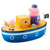 Barco Do Vovô Pig Peppa Pig 2 Bonecos - Flutua Na Água -