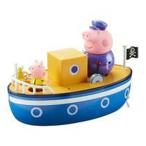Barco Do Vovô Pig Peppa Pig C/ 2 Bonecos Articulados - Flutua na Água - Sunny -