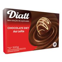 Barra de Chocolate Diet ao Leite 500g - Diatt -