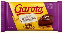 Barra De Chocolate Meio Amargo 1kg Garoto -
