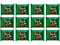 Barra de Chocolate Talento Ao Leite com  - Castanha do Pará 90g 12 Unidades Garoto