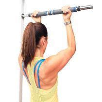 Barra De Porta Fixa para Exercícios - Ajustável 80cm a 130cm - SHOPUD