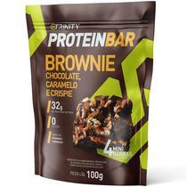 Barra de Proteina Protein Bar Brownie Chocolate, Caramelo e Crispie - 100g - Trinity -