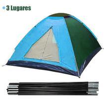 Barraca Acampamento 3 Lugares Camping Viagem Iglu Ferias Colorida - Braslu