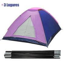 Barraca Acampamento 3 Lugares Ferias Colorida Camping Viagem Iglu - Braslu