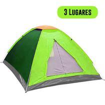Barraca Acampamento 3 Pessoas Viagem Camping Iglu Trilha Colorida - Ab midia