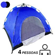Barraca Automatica 4 Lugares Camping Azul com Preto Monta Sozinha Iglu - Ideal